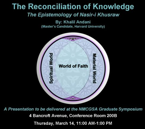Attend Khalil Andani's Presentation at University of Toronto: The Concept of Knowledge ('ilm) according to Nasir-i Khusraw