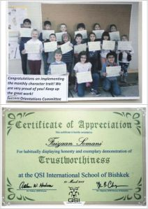 "Faizaan Somani received Certificate for ""Trustworthiness"""