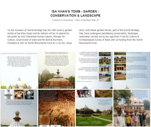 India: Isa Khan Tomb - Garden: Conservation & Landscape