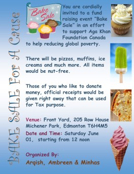 Bake Sale for a Cause - Proceeds go to World Partnership Walk