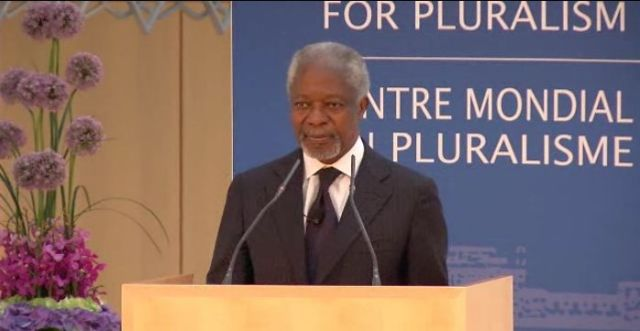 Video: Kofi Annan, Global Centre for Pluralism, Annual Lecture 2013