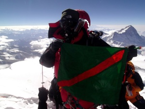 Ismaili Flag at Everest Samina Baig