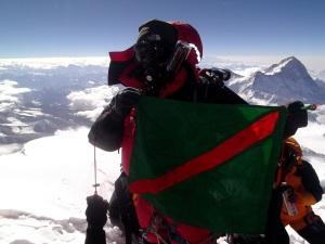 Ismaili Flag on Mount Everest