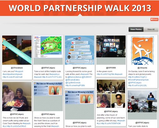 Parallel Earth: For all the Crowd-sourced World Partnership Walk Social Media Stories