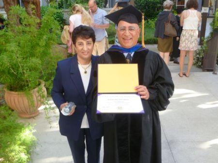 Jalaledin Ebrahim with his sister Jamilleh.
