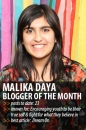 Blogger of the Month: Malika Daya | Youth Are Awesome