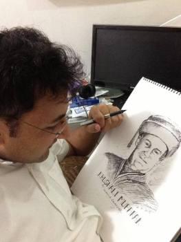 Sketches by Shahid Akhtar Qalandar