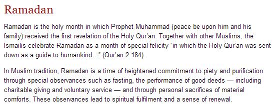 TheIsmaili.org - Ramadan