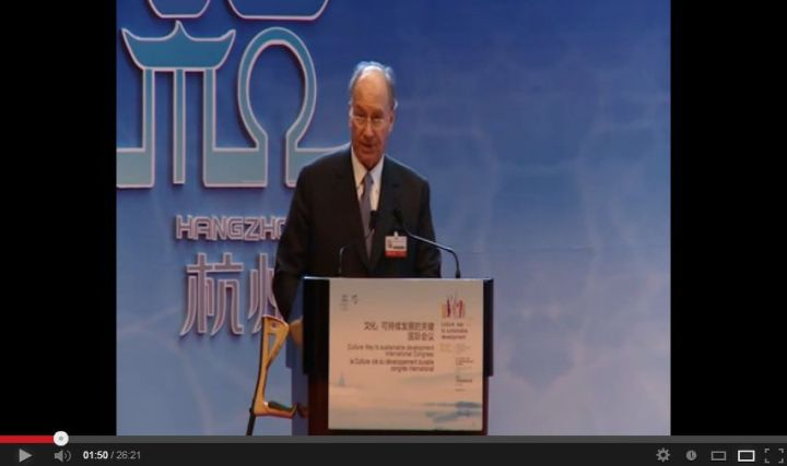 Video Speech by His Highness the Aga Khan at the UNESCO Conference on Culture and Development in Hangzhou, China