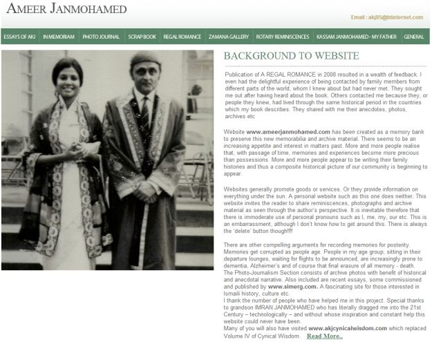 Ameer Janmohamed's Website