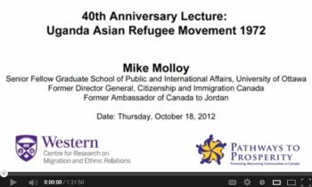 Michael Molloy - Uganda Asian Refugee Movement 1972