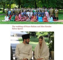 The wedding of Prince Rahim and Miss Kendra Salwa Spears