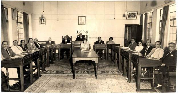 1952 picture above shows the Aga Khan Supreme Council for Africa. Fourth from left is Rumi's father Jimmy Verjee. He was the youngest member on the Council. On his right (third from left) is my mother Rabhiabai Kassam Janmohamed. My mother was pleased to have Jimmy sitting next to her. Not only was he always polite and courteous, he knew that his mother Jenabai and my mother had been close friends since 1938 when we were neighbours on 2nd Parklands Avenue in Nairobi. My mother also knew his father Rajabali and other Verjee boys when they were students in the UK when my father was the Mukhi.