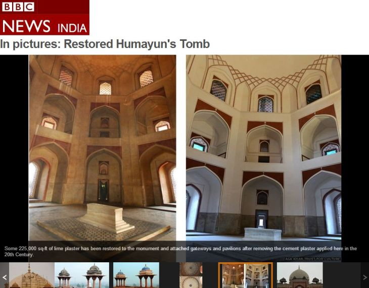 BBC In pictures: Restored Humayun's Tomb