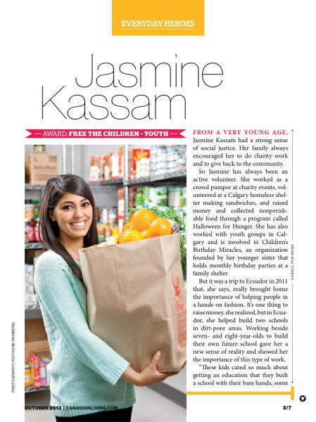 Everyday Heroes: Jasmine Kassam
