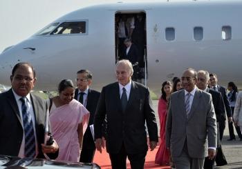 Prince Karim Aga Khan IV arrives on official visit to India