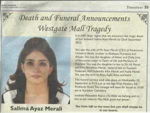 Obituary: Salima and Nurianna Ayaz Merali