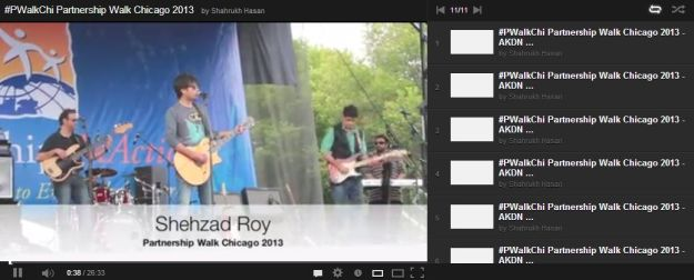 Pakistani Singer Shehzad Roy's Performance at Chicago's PartnershipsInAction Walk/Run