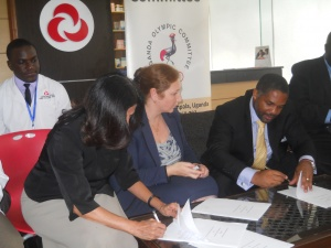 Uganda Olympic Committee, Aga Khan Hospital Sign Medical agreement to help Uganda's athletes