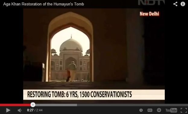 NDTV: Aga Khan Restoration of the Humayun's Tomb