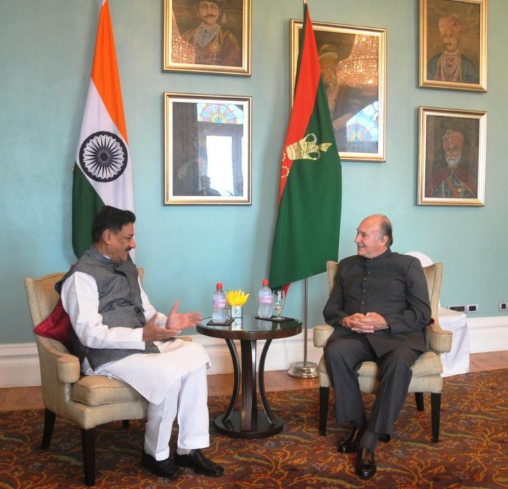 During His Highness the Aga Khan's India Visit: Meeting with Chief Minister of Maharashtra