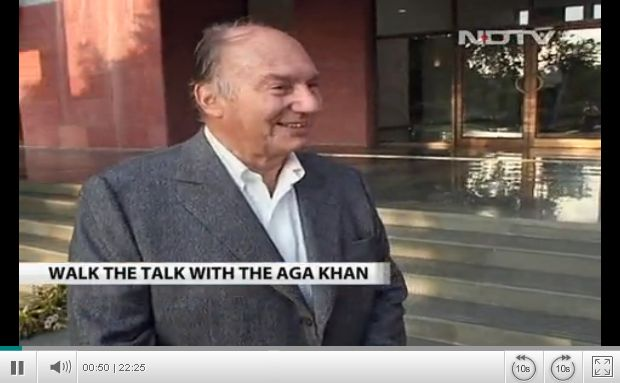 NDTV's: Walk the Talk with His Highness Aga Khan