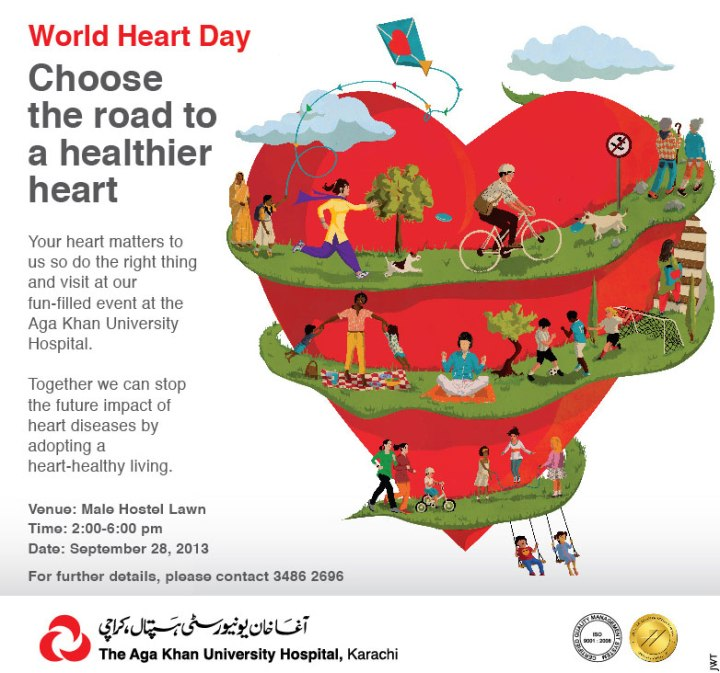"""World Heart Day"" at the Aga Khan University Hospital."