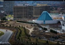 Construction of Aga Khan Museum Toronto - Planting of Trees