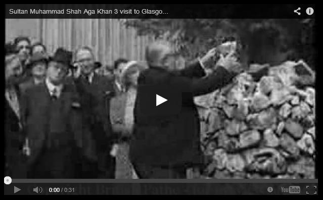 Sultan Muhammad Shah Aga Khan III - Visit to Glasgow (1938)