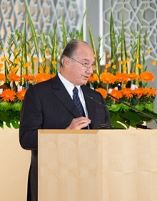 His Highness the Aga Khan awarded the 2013 Royal Architectural Institute of Canada Gold Medal