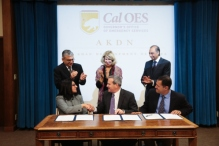 California Governor's Office of Emergency Services signs a Memorandum with the Aga Khan Development Network