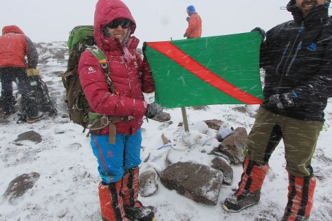 Samina Baig and Mirza Ali reached the Summit of Highest Mountain in the Americas