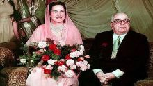 Photo Dr Ghulam Nabi Kazi: The Aga Khan III with his radiant wife