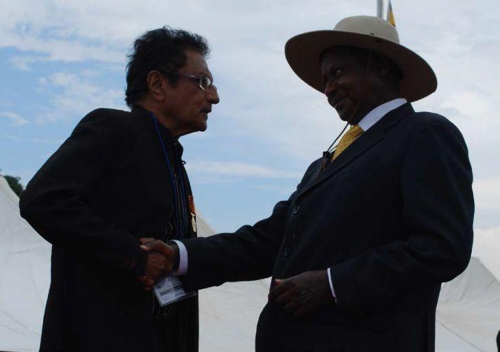 Vali Jamal with Yoweri Museveni