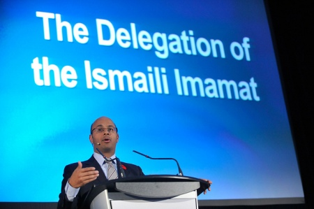 Khalil Shariff, CEO, Aga Khan Foundation Canada presents keynote address at Heritage Canada Conference session hosted by the Delegation of the Ismaili Imamat