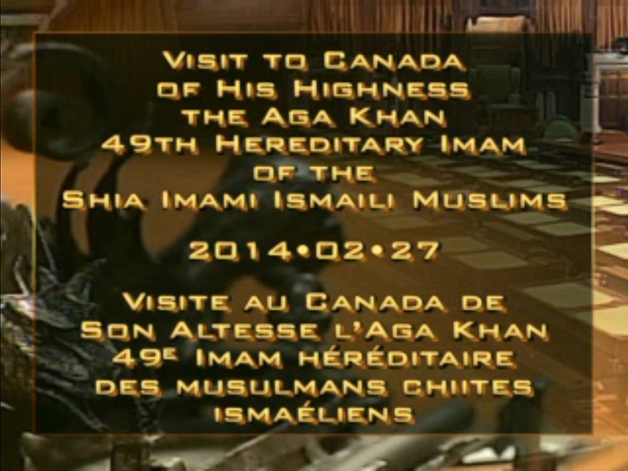 FULL EVENT VIDEO: His Highness the Aga Khan's visit to the Parliament of Canada