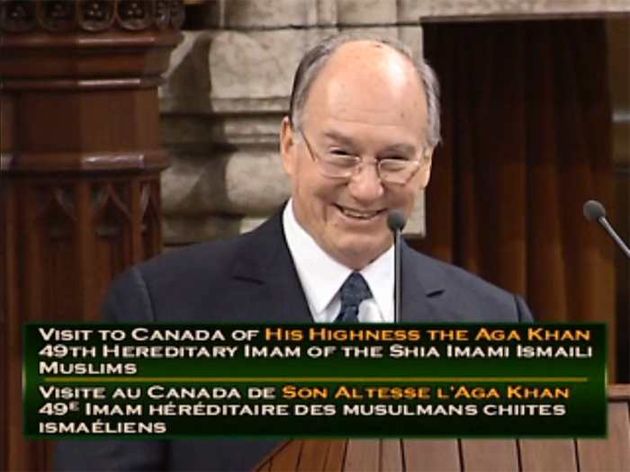 VIDEO/AUDIO: His Highness the Aga Khan's address to the Parliament of Canada (Ottawa, Canada)