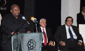 Former President of Tanzania, Benjamin Mkapa at the Rays of Light Exhibition