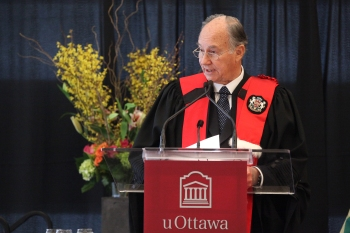 His Highness the Aga Khan has been awarded an honorary doctorate from the University of Ottawa for his service to humanity during a special Convocation ceremony on Friday, January 13 2012  in the Desmarais Building. (gazetteUO)