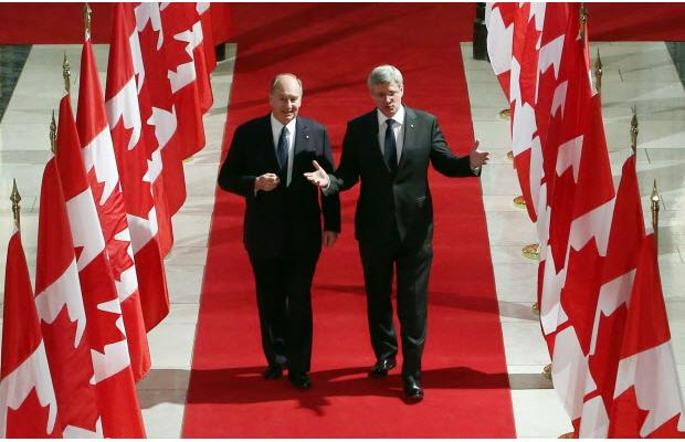 Aga Khan praises Canada as role model of freedom and tolerance