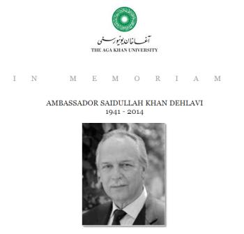 In Memoriam: Ambassador Saidullah Khan Dehlavi