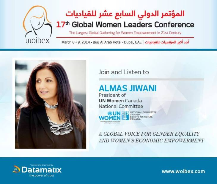 Almas Jiwani o Deliver Keynote Address at the Global Women Leaders Conference in Dubai