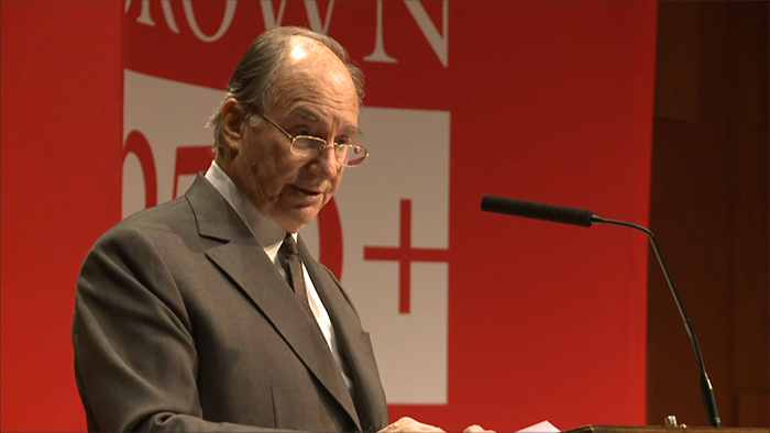 VIDEO/AUDIO: His Highness the Aga Khan's Ogden Lecture at Brown University (Providence, USA)