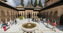 Panoramic View of The Alhambra Gardens