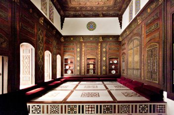 The Damascus Room part of the 15 Islamic Galleries at the MET.  Click to view additional information and videos.