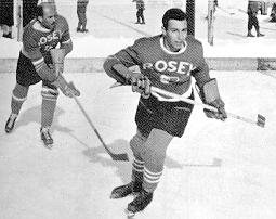 Prince Karim Aga Khan, an accomplished athlete seen here playing hockey. Le Rosey's hockey team was so strong that it competed against men's teams in the national championships.