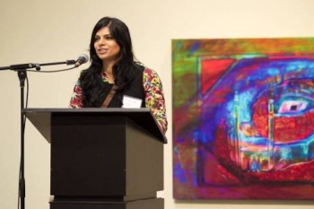 Taslim Samji speaks at Intersections Exhibition Opening, November 2013