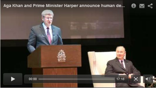 TheIsmaili.org VIDEO: Mawlana Hazar Imam and Canadian Prime Minister announce human development initiative