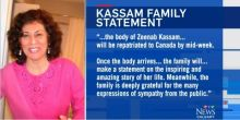 CTV News Calgary: Family awaits arrival of Zeenab Kassam's body