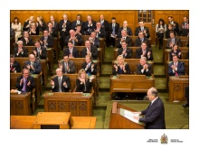 Mark Strahl and fellow MP's listen to His Highness the Aga Khan's address to Parliament